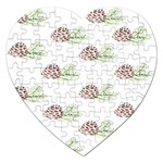 Pinecone Pattern Jigsaw Puzzle (Heart) Front