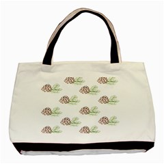 Pinecone Pattern Basic Tote Bag (two Sides) by Mariart