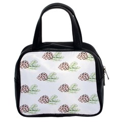 Pinecone Pattern Classic Handbags (2 Sides) by Mariart
