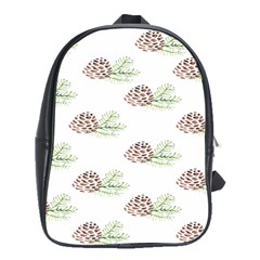 Pinecone Pattern School Bag (large)