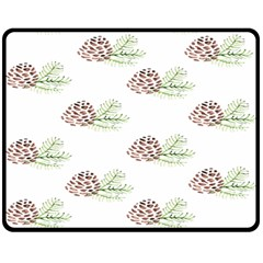 Pinecone Pattern Fleece Blanket (medium)  by Mariart