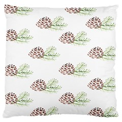 Pinecone Pattern Large Cushion Case (two Sides) by Mariart