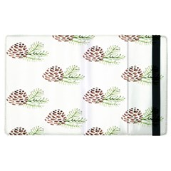 Pinecone Pattern Apple Ipad 2 Flip Case by Mariart