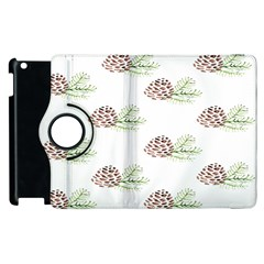 Pinecone Pattern Apple Ipad 3/4 Flip 360 Case by Mariart