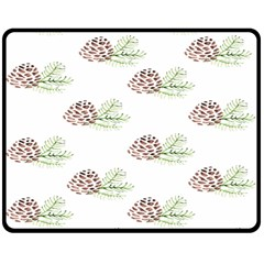 Pinecone Pattern Double Sided Fleece Blanket (medium)  by Mariart