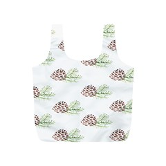 Pinecone Pattern Full Print Recycle Bags (s)  by Mariart