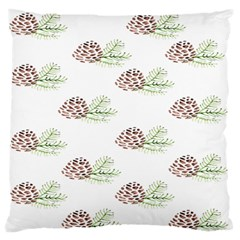 Pinecone Pattern Standard Flano Cushion Case (one Side) by Mariart