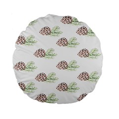 Pinecone Pattern Standard 15  Premium Flano Round Cushions by Mariart