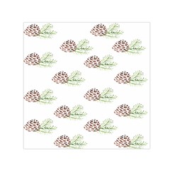 Pinecone Pattern Small Satin Scarf (square) by Mariart