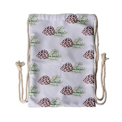 Pinecone Pattern Drawstring Bag (small) by Mariart