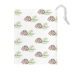 Pinecone Pattern Drawstring Pouches (extra Large) by Mariart