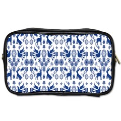 Rabbits Deer Birds Fish Flowers Floral Star Blue White Sexy Animals Toiletries Bags 2 Side by Mariart