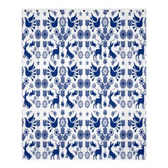Rabbits Deer Birds Fish Flowers Floral Star Blue White Sexy Animals Shower Curtain 60  X 72  (medium)  by Mariart