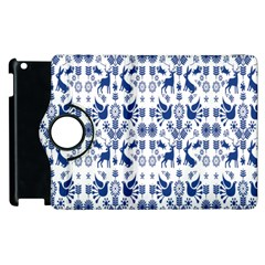Rabbits Deer Birds Fish Flowers Floral Star Blue White Sexy Animals Apple Ipad 2 Flip 360 Case by Mariart