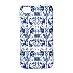 Rabbits Deer Birds Fish Flowers Floral Star Blue White Sexy Animals Apple Iphone 4/4s Hardshell Case With Stand by Mariart