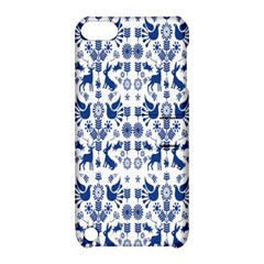Rabbits Deer Birds Fish Flowers Floral Star Blue White Sexy Animals Apple Ipod Touch 5 Hardshell Case With Stand by Mariart