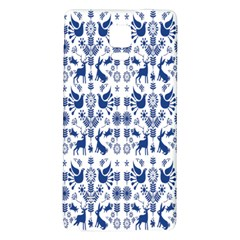 Rabbits Deer Birds Fish Flowers Floral Star Blue White Sexy Animals Galaxy Note 4 Back Case by Mariart