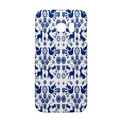 Rabbits Deer Birds Fish Flowers Floral Star Blue White Sexy Animals Galaxy S6 Edge