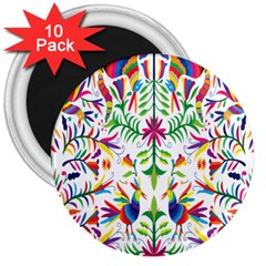 Peacock Rainbow Animals Bird Beauty Sexy 3  Magnets (10 Pack)  by Mariart