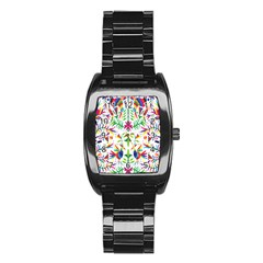 Peacock Rainbow Animals Bird Beauty Sexy Stainless Steel Barrel Watch by Mariart