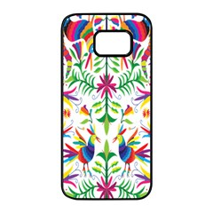 Peacock Rainbow Animals Bird Beauty Sexy Samsung Galaxy S7 Edge Black Seamless Case by Mariart