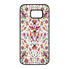 Peacock Rainbow Animals Bird Beauty Sexy Flower Floral Sunflower Star Samsung Galaxy S7 Edge Black Seamless Case by Mariart