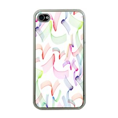 Rainbow Green Purple Pink Red Blue Pattern Zommed Apple Iphone 4 Case (clear) by Mariart