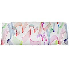 Rainbow Green Purple Pink Red Blue Pattern Zommed Body Pillow Case Dakimakura (two Sides) by Mariart