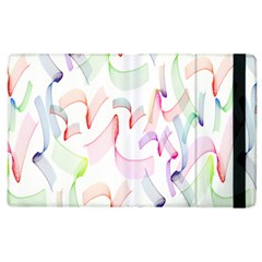 Rainbow Green Purple Pink Red Blue Pattern Zommed Apple Ipad 2 Flip Case by Mariart