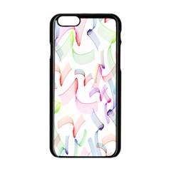 Rainbow Green Purple Pink Red Blue Pattern Zommed Apple Iphone 6/6s Black Enamel Case by Mariart