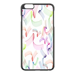 Rainbow Green Purple Pink Red Blue Pattern Zommed Apple Iphone 6 Plus/6s Plus Black Enamel Case by Mariart