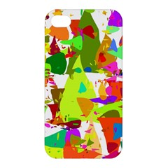 Colorful Shapes On A White Background                            Apple Iphone 4/4s Hardshell Case by LalyLauraFLM