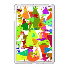 Colorful Shapes On A White Background                       Apple Ipad Mini Case (black) by LalyLauraFLM