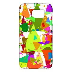 Colorful Shapes On A White Background                       Samsung Galaxy S6 Hardshell Case by LalyLauraFLM