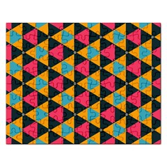 Triangles Pattern                           Jigsaw Puzzle (rectangular) by LalyLauraFLM
