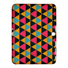 Triangles Pattern                     Samsung Galaxy Tab 4 (10 1 ) Hardshell Case by LalyLauraFLM