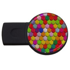 Colorful Tiles Pattern                           Usb Flash Drive Round (2 Gb)