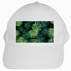 Tropical Pattern White Cap by ValentinaDesign