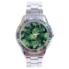 Tropical Pattern Stainless Steel Analogue Watch by ValentinaDesign