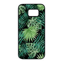 Tropical Pattern Samsung Galaxy S7 Edge Black Seamless Case by ValentinaDesign