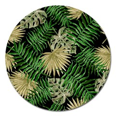 Tropical Pattern Magnet 5  (round) by ValentinaDesign