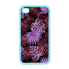 Tropical Pattern Apple Iphone 4 Case (color) by ValentinaDesign