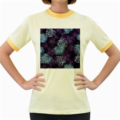 Tropical Pattern Women s Fitted Ringer T Shirts by ValentinaDesign