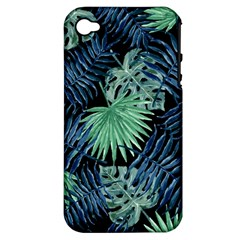 Tropical Pattern Apple Iphone 4/4s Hardshell Case (pc+silicone) by ValentinaDesign