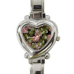 Tropical Pattern Heart Italian Charm Watch by ValentinaDesign