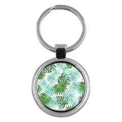 Tropical Pattern Key Chains (round)  by ValentinaDesign