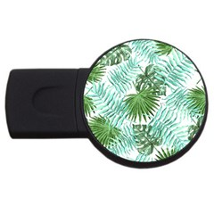Tropical Pattern Usb Flash Drive Round (4 Gb) by ValentinaDesign