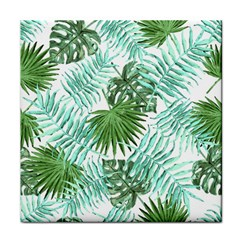 Tropical Pattern Face Towel by ValentinaDesign