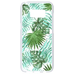 Tropical Pattern Samsung Galaxy S8 White Seamless Case by ValentinaDesign
