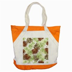 Tropical Pattern Accent Tote Bag by ValentinaDesign